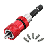 Drillpro Adjustable Screw Depth Magnetic Screwdriver Bit Holder with 5pcs PH2 Scewdriver Bits