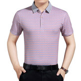 Middle-aged Men's Casual Printed Short-sleeved Golf Shirt
