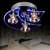 Retro Eetkamer Kristallen Kroonluchter Plafond LED Licht Hanger Maan Ster Lichten