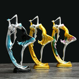 Elegante dansende meisje decoratie hars Art Deco sculptuur abstracte standbeeld decoraties