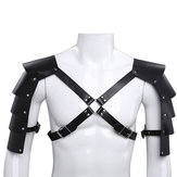 Tactical Leather Vest Adjustable Body Chest Harness Men Outdoor Hunting Belt Shoulder Tights With Buckles