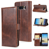 PU Leather Wallet Card Slot Flip Bracket Magnético Caso para Samsung Galaxy Note 8