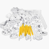 12Sets 37PCS Fondant Cake Decorating Mold Set 04021