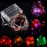 2M 20 LED Batterij Powered Heart String Fairy Light Voor Kerstfeest Weddinng Decor