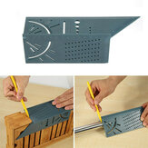 Woodworking 3D Mitre Angle Measuring Square Size Measure Tool Angle Ruler Hole-Positioning Gauge 45/90 Degree T Ruler