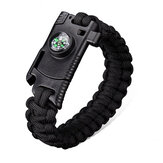 IPRee® 4 In 1 EDC Survival Bracelet Outdoor Emergency 7 Core Paracord Whistle Compass Kit