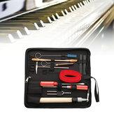 13PCSプロフェッショナルピアノチューニングメンテナンスツールキットレンチHammerドライバーケースUS