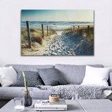 OkyanusPlajAyakIziTuvalBaskılar Resimleri Duvar Sanatı Ev Dekor Çerçevesiz