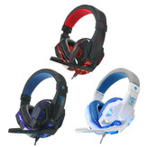 USB 3.5mm Cuffie LED per Gaming Giochi con Audio Stereo Surround con Microfono