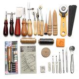 37pcs trousse à outils en cuir à la main couture couture poinçon travail de sculpture sur selle