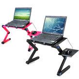 360 Mesa de laptop portátil dobrável Mesa 2 buracos Mesa de notebook de resfriamento com suporte para laptop Suporte para laptop