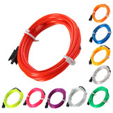 2M EL Led Flexible Soft Tube Wire Neon Glow Car Rope Strip Light Xmas Decor DC 12V