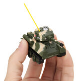 Happy Cow 27MHZ 777-215 Mini Radio RC Army Battle Infrared Tank With Light Model Toys For Kids Gift