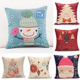 45X45 centímetros lençóis de algodão decoração fronha lençóis de algodão moda presente de Natal almofada do sofá