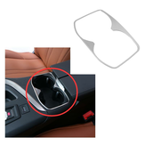 Stainless Steel Water Cup Holder Decoration Cover Trim Molding Sticker for Peugeot 5008 3008 GT 2017