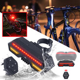 Bicycle Bike Rear Tail Laser LED Indicator Turn Signal Light Wireless Remote Tail Light USB Charging