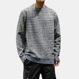 Мужская повседневная хлопковая бригада Шея Свободные удобные толстые свитера