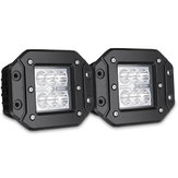 2PCS 4 Inch Flush Mount Flood Backup Reverse Rear Bumper LED Work Light For Dodge Ram 1500 2500 3500