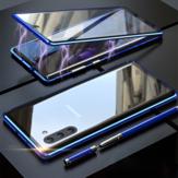 Samsung Galaxy Note 10 / Note 10 5G用Bakeey360º全身磁気吸着アルミニウム合金強化ガラス保護ケース