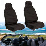 Black Polyester Car Seat Cover 132 X 54CM Waterproof Washable
