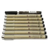 8pc Pigment Micron Sakura Neelde Soft Brush Drawing Pen 005 01 02 03 04 05 08 Brush Fine Point Markers Pen