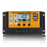 Lcd-scherm 12V / 24V Auto Solar Charge Controller PWM Controller Dubbele USB-zonnepaneelcontroller