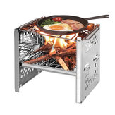 Durable Folding BBQ Grill Barbecue Stove Outdoor Picnic Camping BBQ Grill with Storage Bag