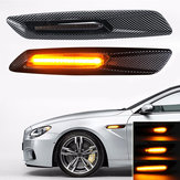 Dynamic Flowing LED Side Marker Lights Turn Signals For BMW E81 E82 E88 E90 E91 E60 E61 E46 E83