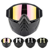Motorcycle Motobike Bike Riding Helmet Open Face Mask Shield Goggles