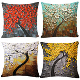 Cushion Case Tree Flower Pillow Case Cotton Linen Cushion Cover Gift Home Decor