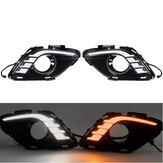 Светодиодные ДХО фары дневного света указатель поворота Лампа двухцветная пара для Mazda 6 Atenza 2013-2015