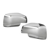 Pair Full Chrome Car Wing Side Mirror Cover Caps For Land Rover Discovery Freelander 2