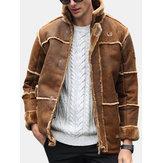 Jaqueta de couro camurça Sherpa Boomber