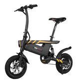 [EU Direct] Ziyoujiguang Vélo électrique pliant T18S 7.8AH 36V 250W 12 pouces 25 km / h Vitesse maximale système de vitesse variable intelligente de 30 à 35 km Max. Portant 120 kg