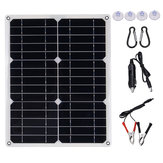 40W 18V Mono Solar Panel Dual 12V/5V DC USB Monocrystaline Flexible Solar Charger For Car RV Boat Battery Charger