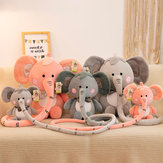 30/40/55CM Soft Down Cotton Stuffed Plush Toy with Long Nose Height Ruler Function for Children's Birthday Gifts