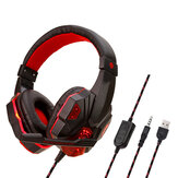 Original              3.5mm LED Gaming Headset Mute Headphone con Micrófono para PS4 Switch Laptop Game