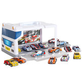 Children's Parking Lot Car Toy Set Puzzle Alloy Sliding Trolley Simulation Garage Storage Box Model Building