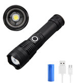 XANES® WP50 XHP50 Zoom LED Flashlight USB Rechargeable 5 Modes Tactical Torch Light Waterproof With 26650 Battery Work Light