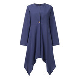 Solid Color Button Long Sleeve Cardigans