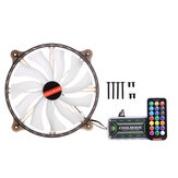 Cool Moon CR200mm Chassis Computer Case Fan RGB Mute Streamer LED Computer Host 20cm Cooling Fan