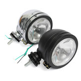 6 Inch Car Spotlight Spot Fog Lights with H3 Halogen Bulb Amber Super Bright Black/Silver Shell
