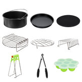 Fits for 5.3-6.8QT 9Pcs 9'' Non-stick Air Fryer Accessories Baking Cooking Pan