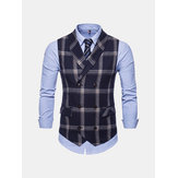 Mens Double Breasted Suit Collar Vest