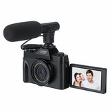 KOMERY 4K Vlog Camcorder 30MP 16X Digital Night Vision Camera Support Microphone for Tik Tok Youtube Live Streaming