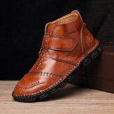 Genuine Leather Hand Stitching Casual Business Boots