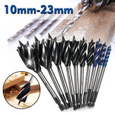 Four Slot Four Blade Wood Working Auger Drill Bit 10mm-32mm Hex Shank Bore Hole Twist Drill Bit