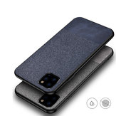 Bakeey Anti-fingerprint Cotton Cloth PU Leather Protective Case for iPhone 11 Pro 5.8 inch
