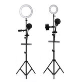 16/25cm Dimmable LED Video Ring Light Tripod Stand with Phone/Mic Holder bluetooth Selfie Shutter for Youtube Tik Tok Live Streaming