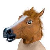 Cabeça de cavalo assustador látex Máscara borracha de rosto Máscara para o festival de Halloween